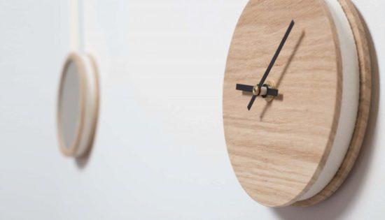 horloge miroir Pendule Drugeot Labo