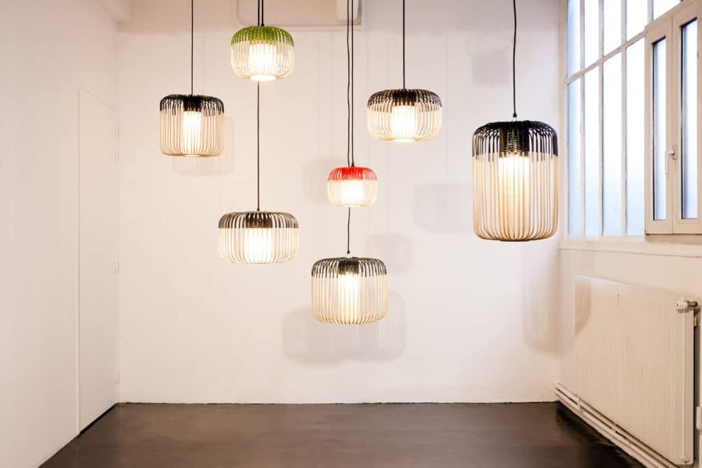 suspension Bamboo Light