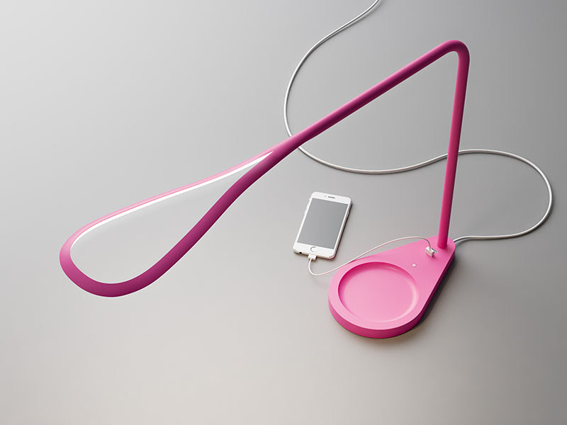 Kinx lampe USB Fontana Arte Karim Rashid