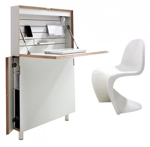 smaider - un secrétaire design de faible profondeur - Meuble Secretaire Design