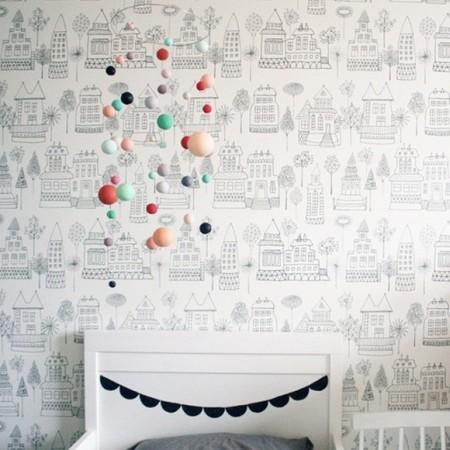décoration murale papier peint enfant