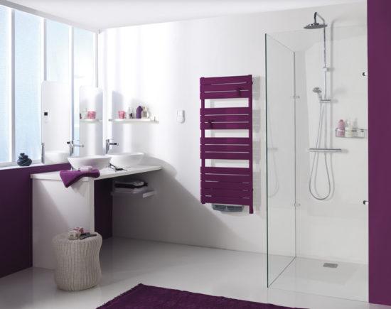 Les radiateurs design sèche serviettes couleur Atlantic