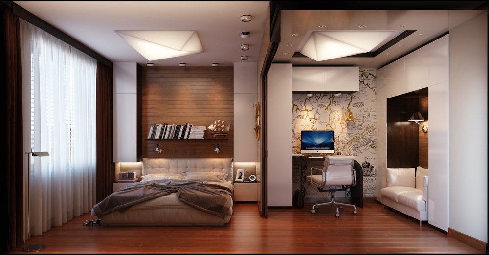 chambre homme simple