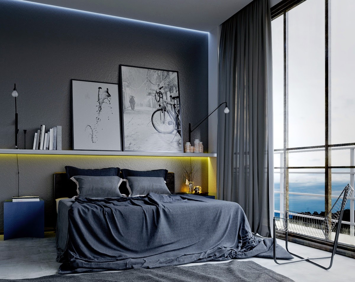 D co masculine pour votre chambre blog deco tendency for Mens bedroom wall colors