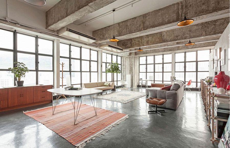 Design pragmatique et espaces cach s dans un loft industriel - Loft design immobilier ...