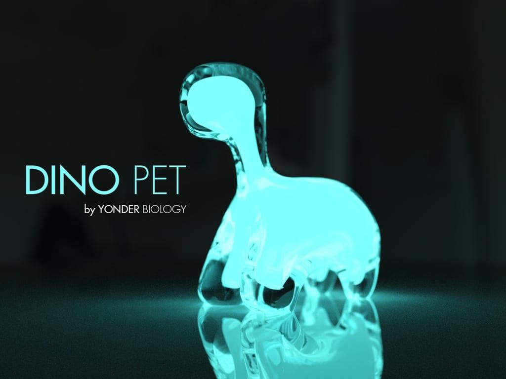 Dino Pet objet déco bioluminescent interactif