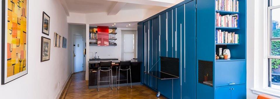 Gagner de la place dans un petit appartement Michael K Chen Architecture1 - L'horloge à coucou design Ettore Leaf
