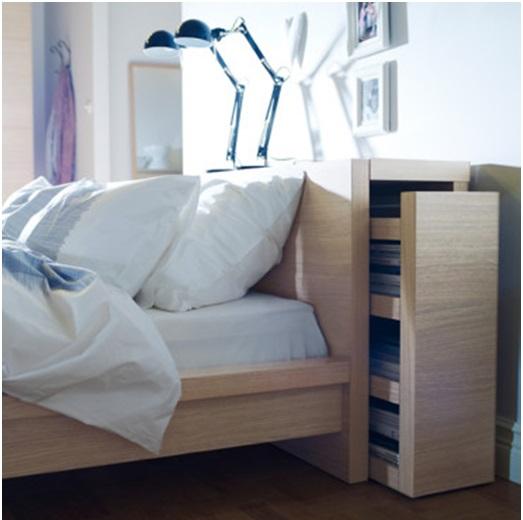 Rangement de chambre tête de lit