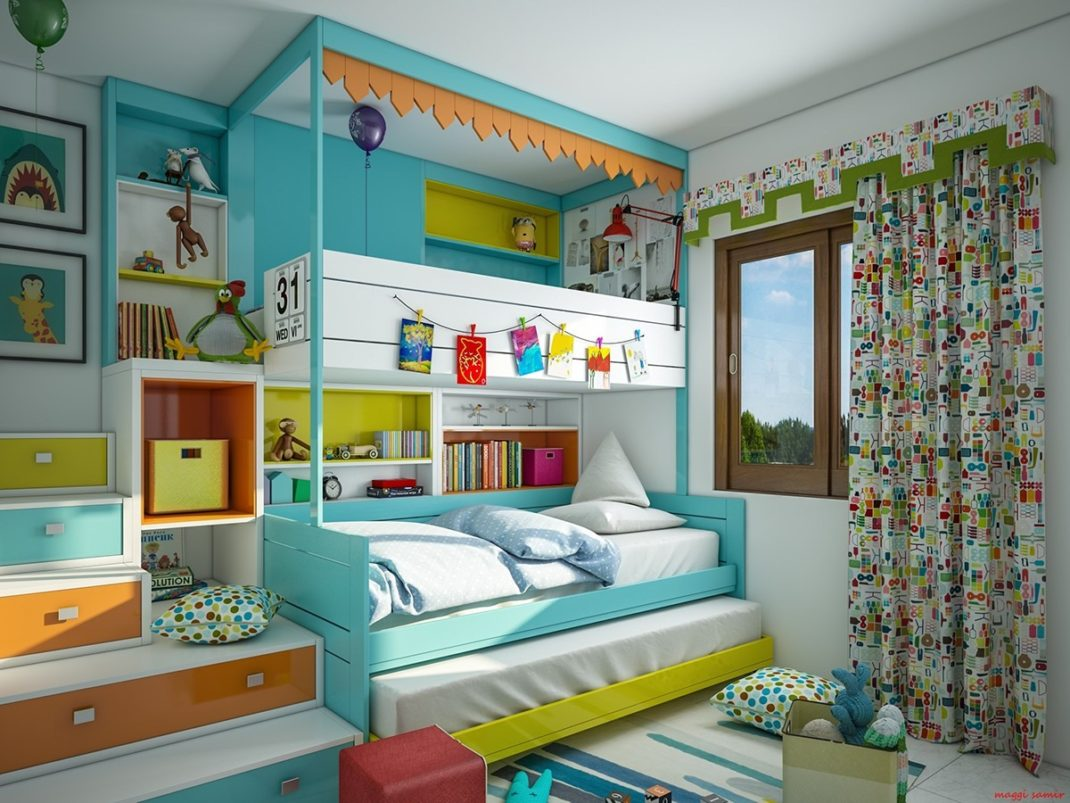chambres d 39 enfant d co hyper color es blog deco tendency. Black Bedroom Furniture Sets. Home Design Ideas