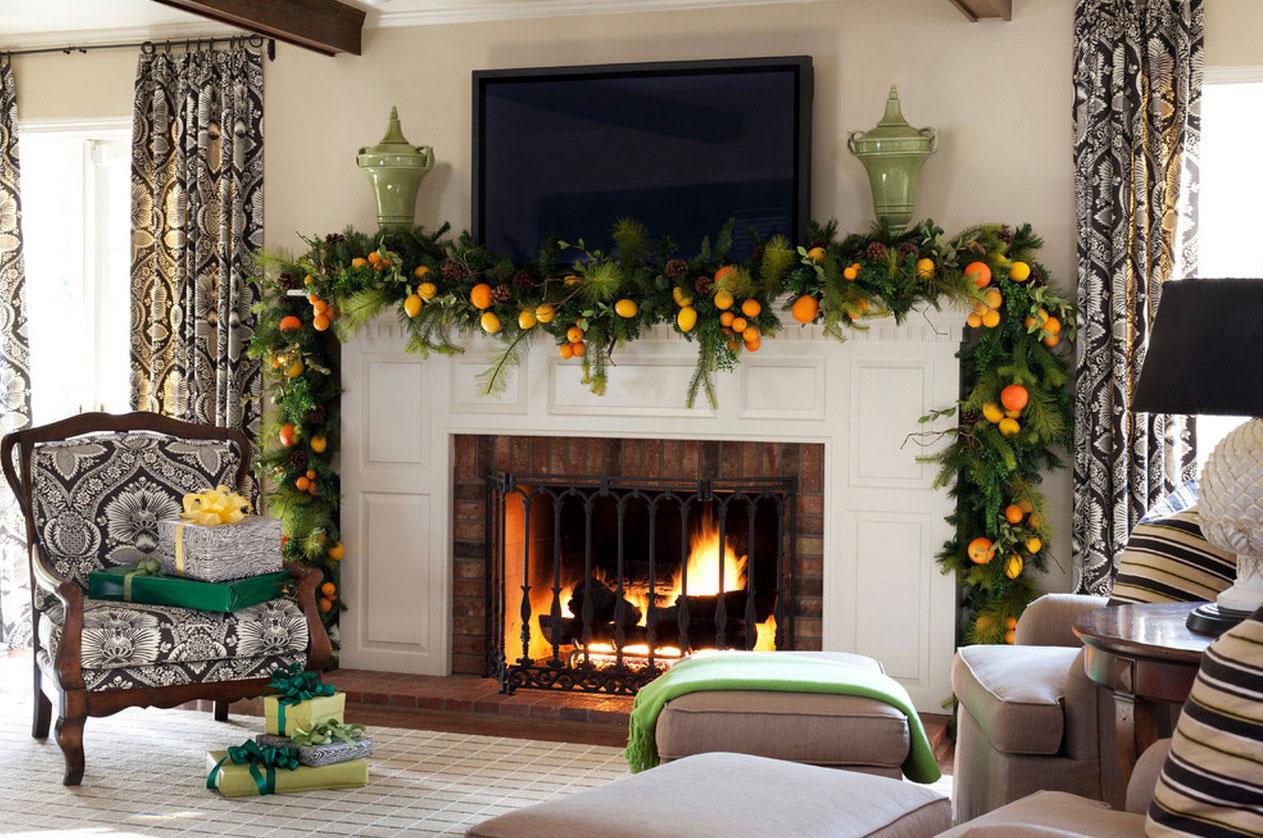 Utilisez des fruits pour votre décoration de Noël moderne