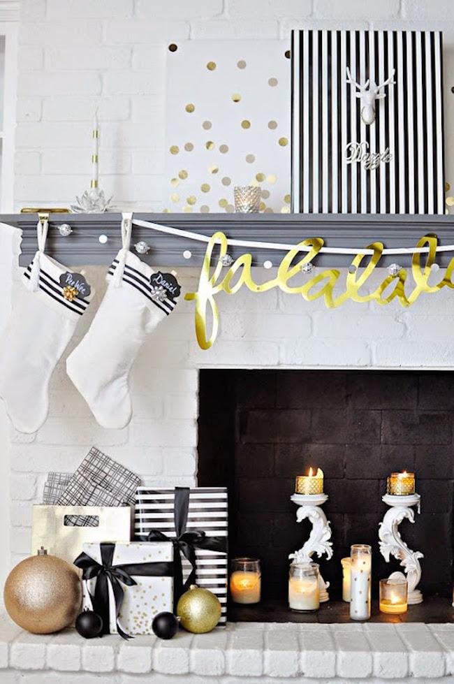 Pensez à décorer votre cheminée à Noël