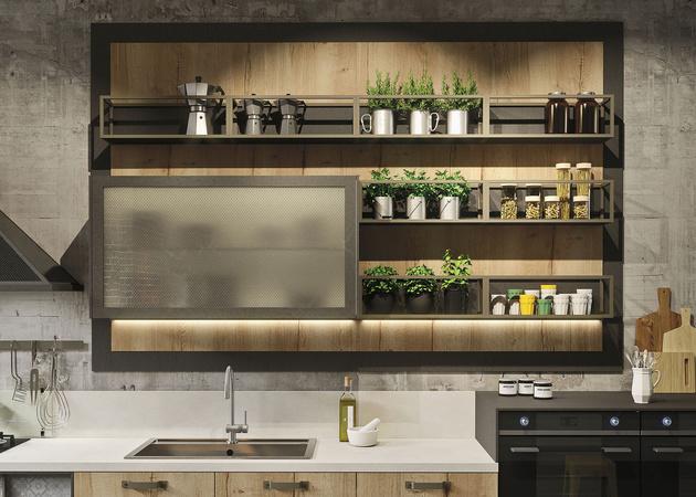 Snaidero cuisine loft industriel