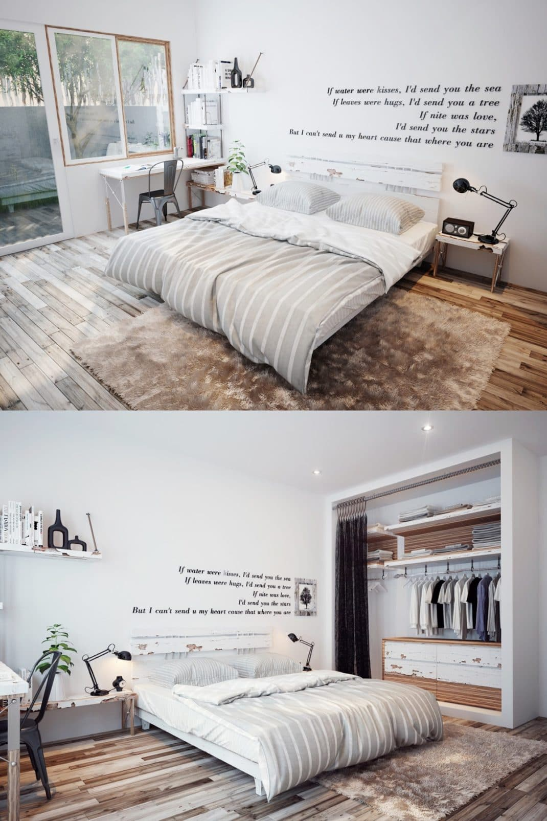 d coration de chambre scandinave id es et inspirations. Black Bedroom Furniture Sets. Home Design Ideas