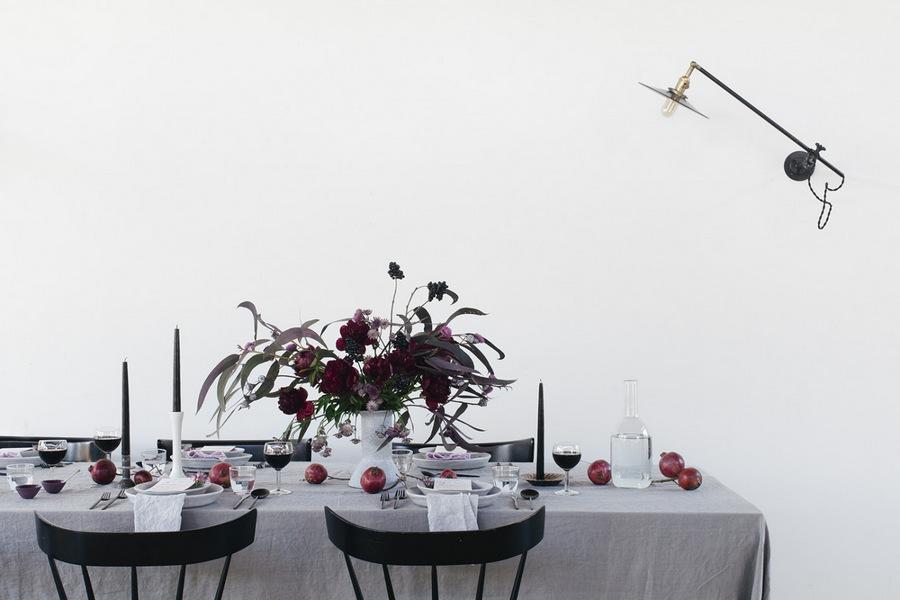 Home decor décoration table gris