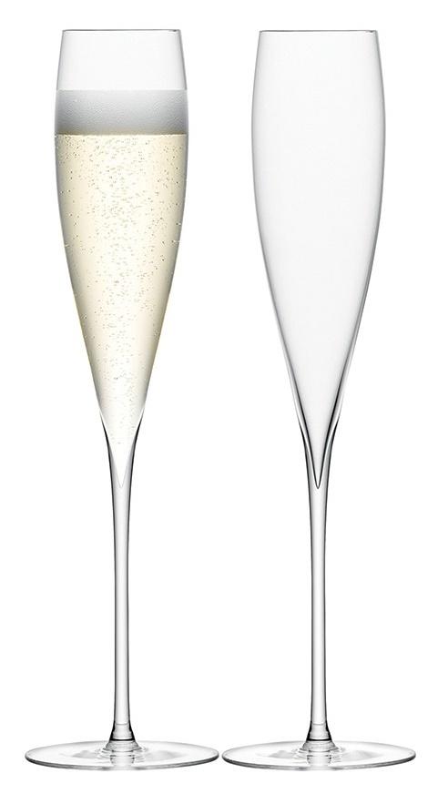 décorations en verre LSA International flûtes à champagne Savoy