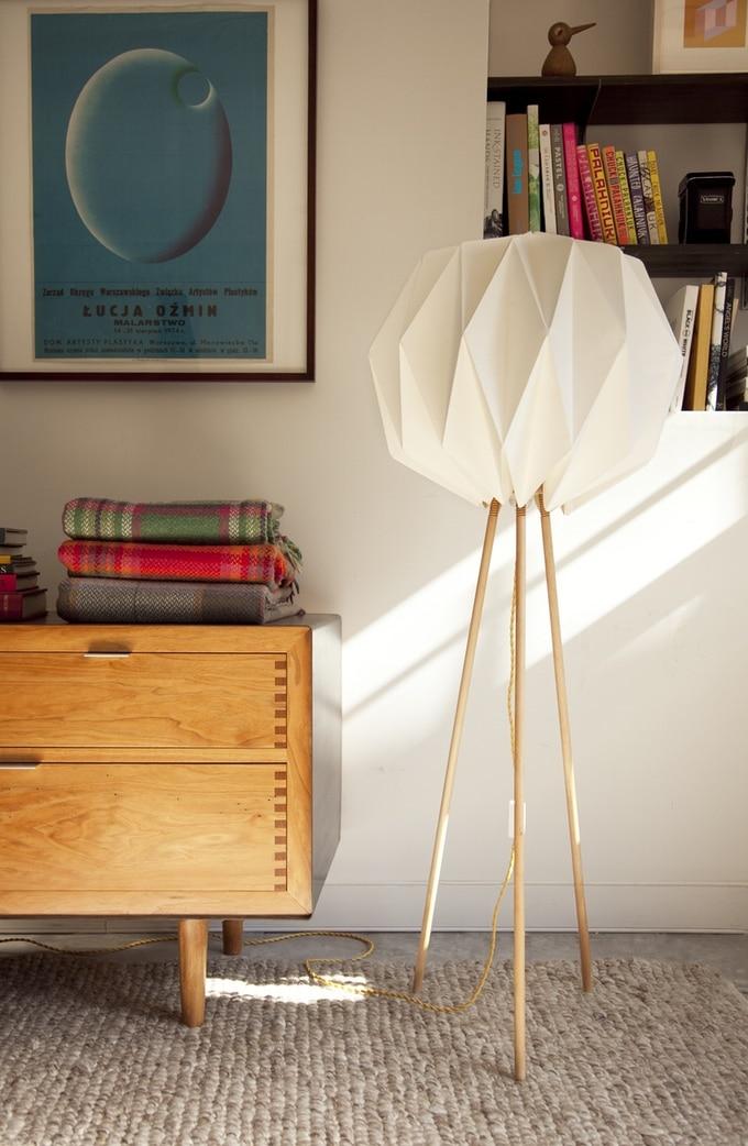 Lampo lampe en papier origami