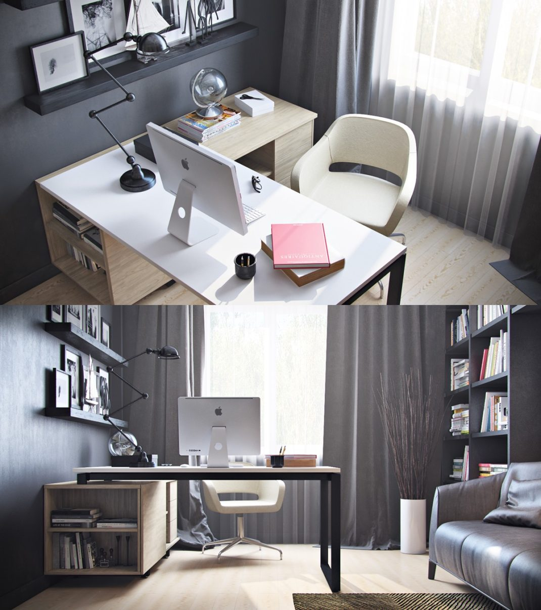 idee deco bureau 40 id es d co pour am nager un bureau la maison d co bureau loft idees deco. Black Bedroom Furniture Sets. Home Design Ideas