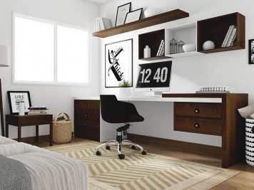 red corer son bureau avec des id es d co tr s simples. Black Bedroom Furniture Sets. Home Design Ideas