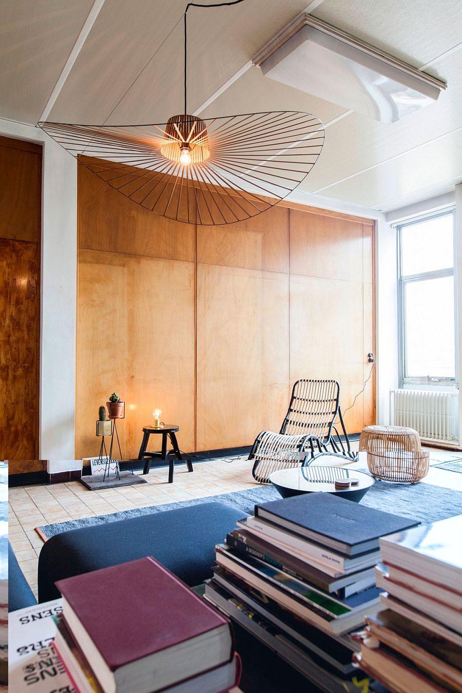 d co vintage et industrielle pour ce penthouse belge. Black Bedroom Furniture Sets. Home Design Ideas