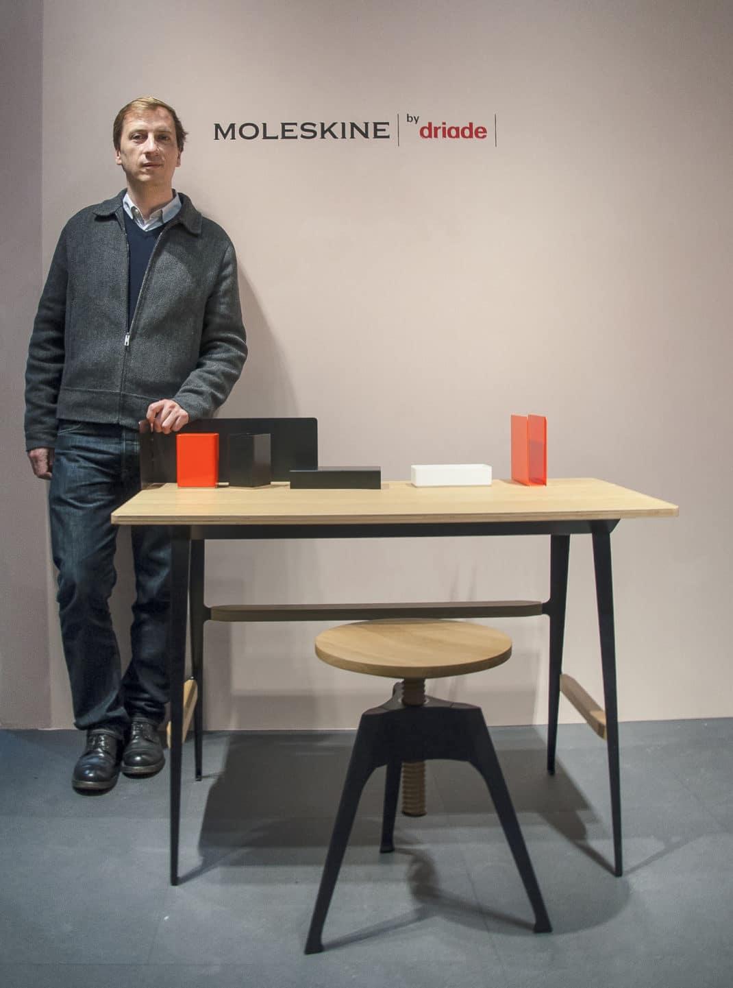 Driade Moleskine collection capsule étagère Portable Atelier Philippe Nigro