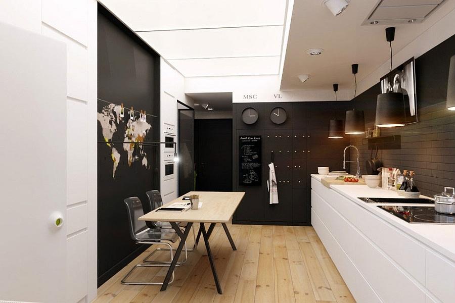 Natalia akimov d voile un minuscule appartement en noir et for Objet deco appartement