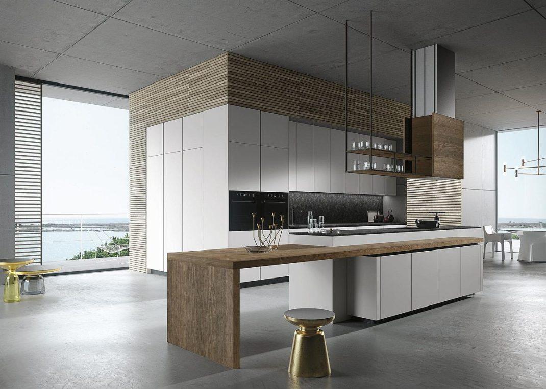 michele marcon d voile sa nouvelle cuisine pour snaidero. Black Bedroom Furniture Sets. Home Design Ideas