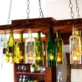 utiliser des bouteilles en verre pour sa décoration
