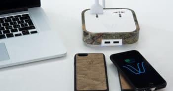 WoodieHub chargeur de smartphone 350x185 - Zeeq - Un oreiller intelligent pour s'endormir en musique