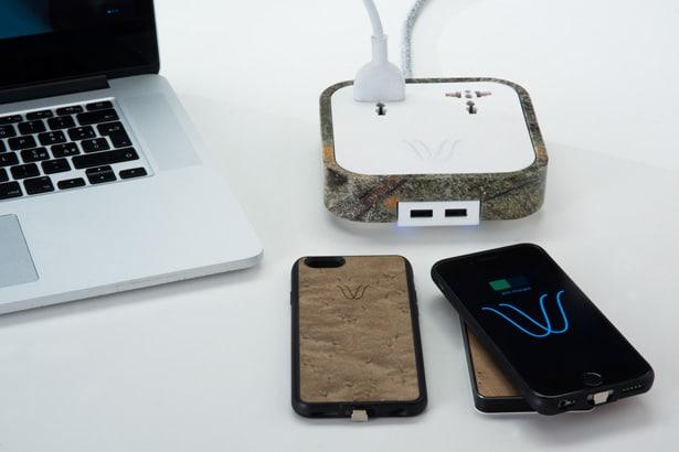 WoodieHub chargeur de smartphone
