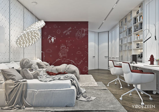 appartement moderne aux légers accents classiques