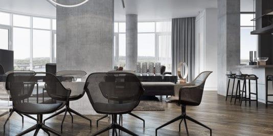 appartement moderne aux légers accents classiques 6 534x267 - Visite d'un appartement moderne aux légers accents classiques