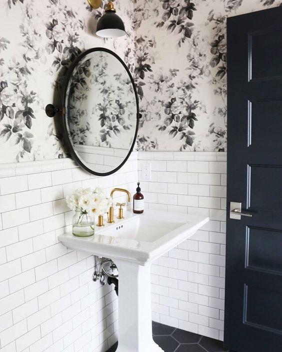 21 id es d co de salle de bain en noir et blanc deco tendency - Decoration salle de bain noir et blanc ...
