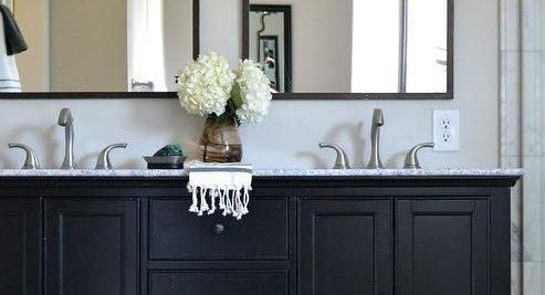 idées déco de salle de bain en noir et blanc