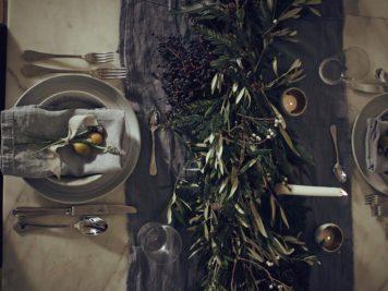 Décorations de table d'automne