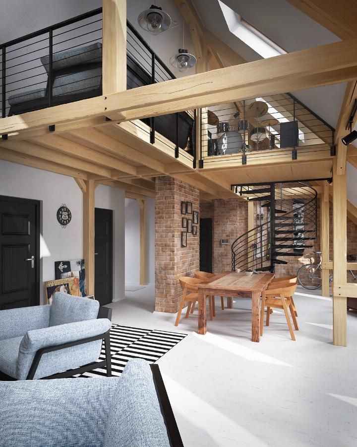 des poutres apparentes d coratives a existe regardez. Black Bedroom Furniture Sets. Home Design Ideas