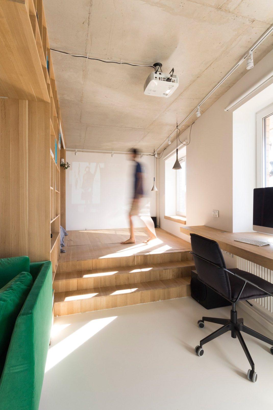 am nager un petit studio de moins de 50 m tres carr s. Black Bedroom Furniture Sets. Home Design Ideas