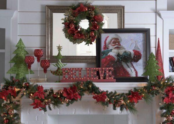 Comment décorer une cheminée à Noël