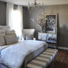chambres grises déco 23 267x267 - 40 chambres grises très déco !