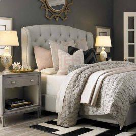 chambres grises déco 39 267x267 - 40 chambres grises très déco !