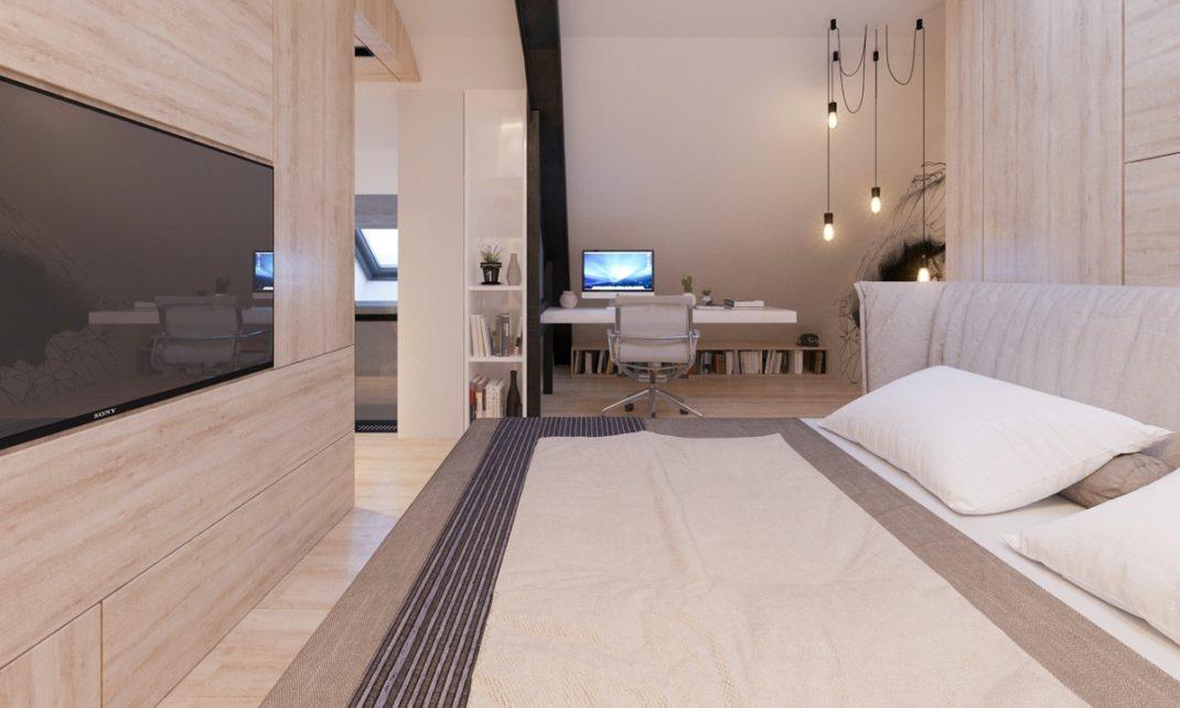 Transformer un grenier en un appartement contemporain