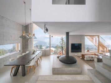 décoration de chalet moderne et minimaliste