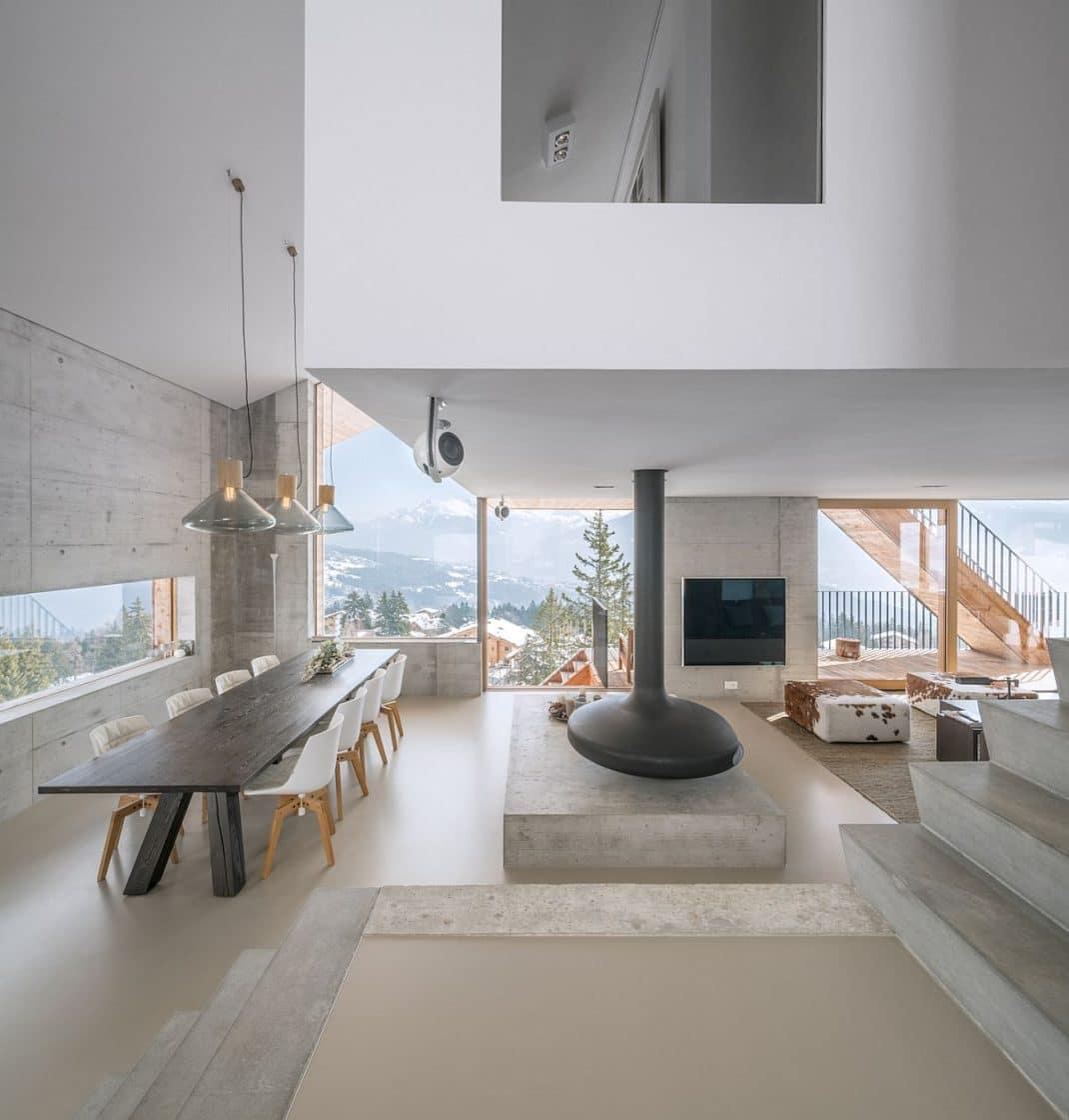 Décoration de chalet moderne et minimaliste | Deco Tendency