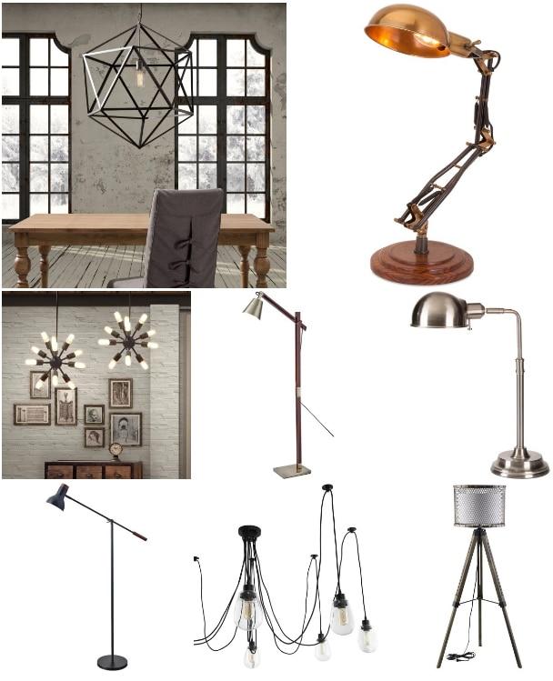 Décoration d'intérieur industrielle : vintage versus éclairage en ...