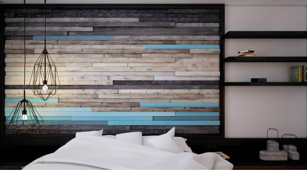 murs en bois d coratifs 30 id es d co reproduire chez. Black Bedroom Furniture Sets. Home Design Ideas