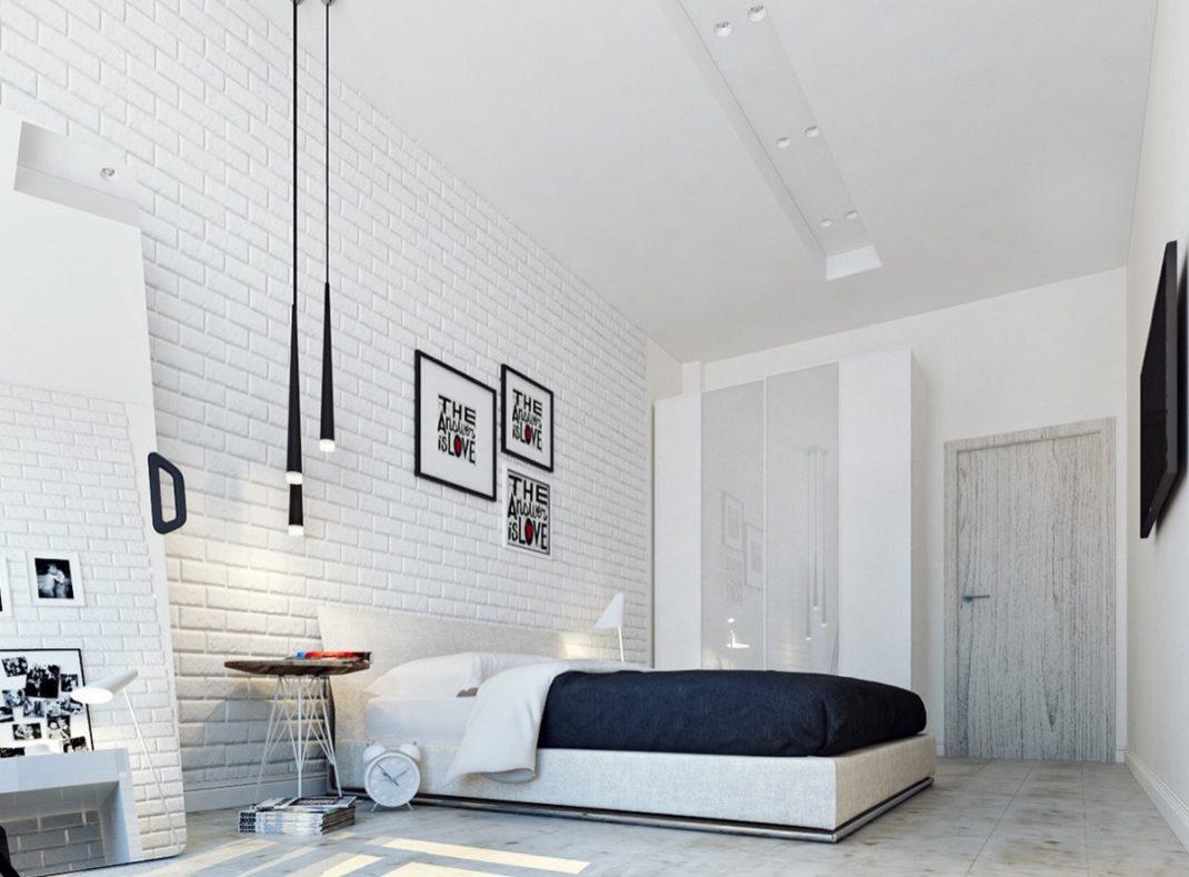 D corer les murs d une chambre avec des briques blog deco for Interieur chambre
