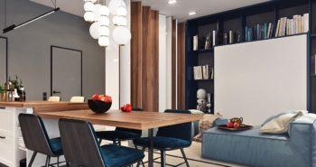 décorer un studio 1 350x185 - 30 magnifiques cuisines grises et blanches déco et design