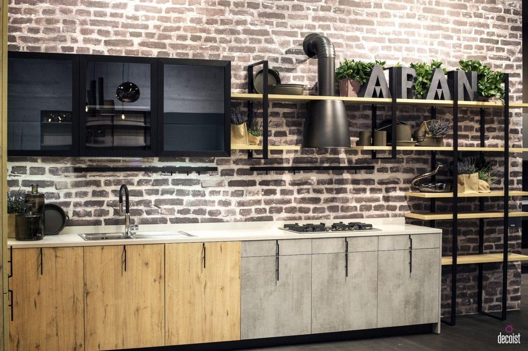 agencer sa cuisine sur un mur pour gagner de l espace. Black Bedroom Furniture Sets. Home Design Ideas