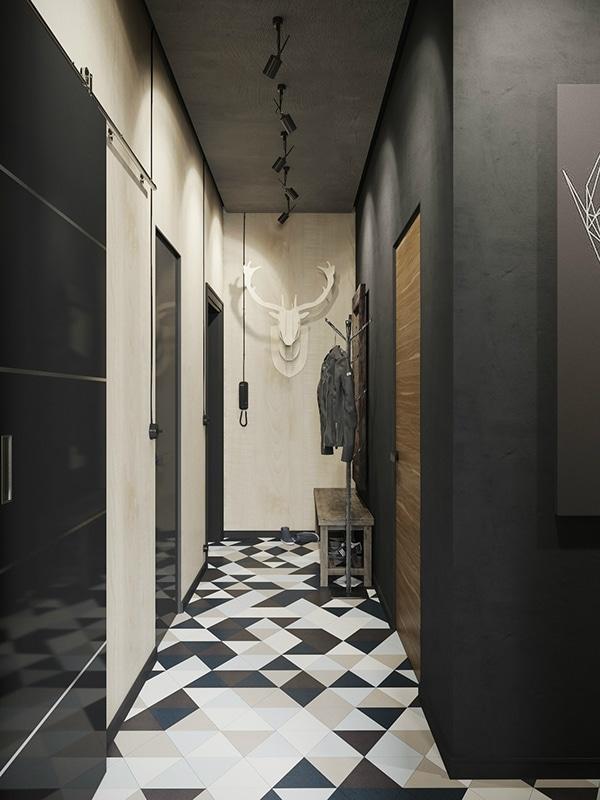 Denis Krasikov petit appartement industriel moderne