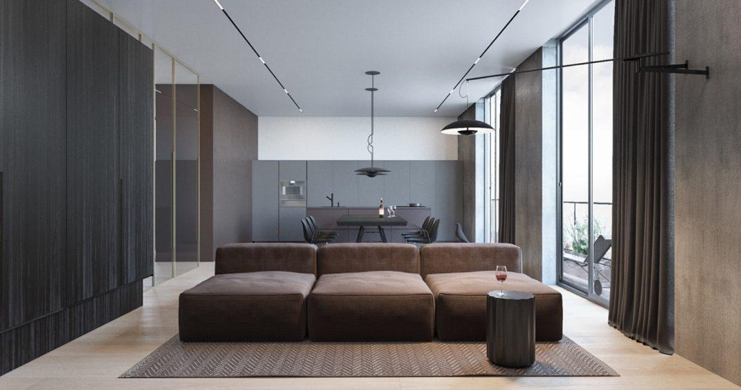 Un appartement moderne et minimaliste pour une jeune famille for Appartamento minimal