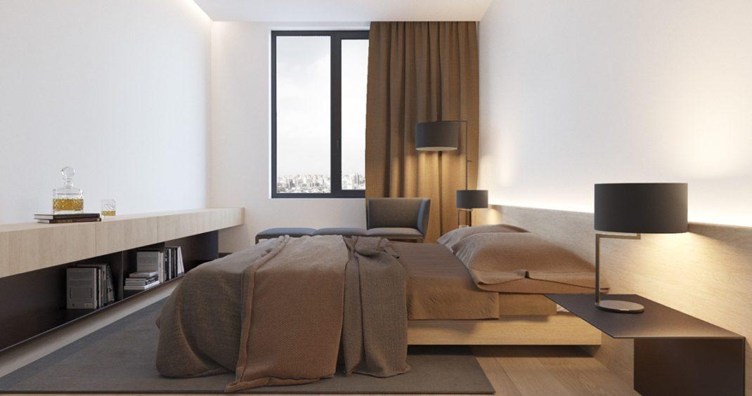 Un appartement moderne et minimaliste pour une jeune famille for Deco moderne appartement